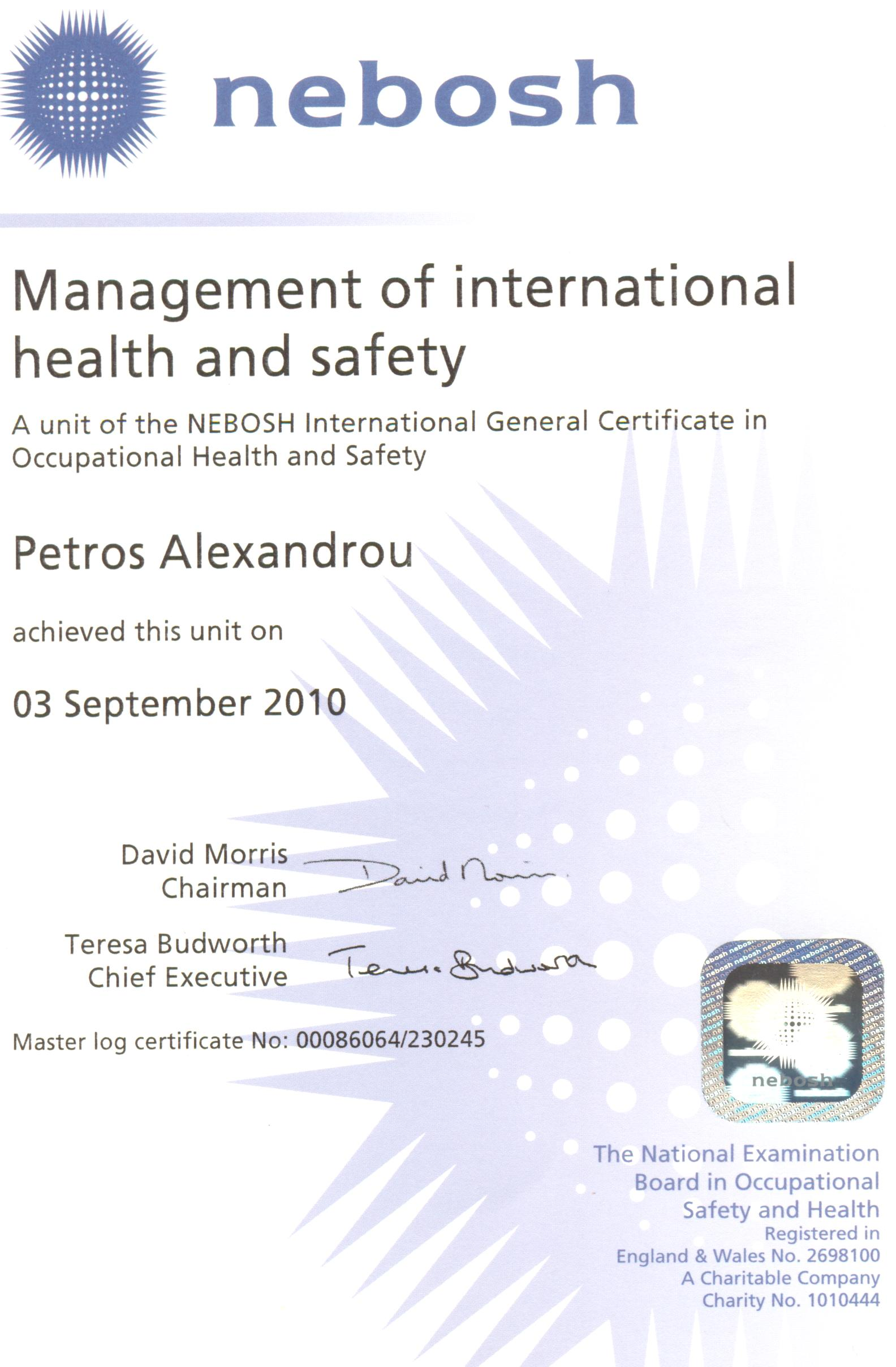 Peter management of international health safety unit 1 xflitez Gallery