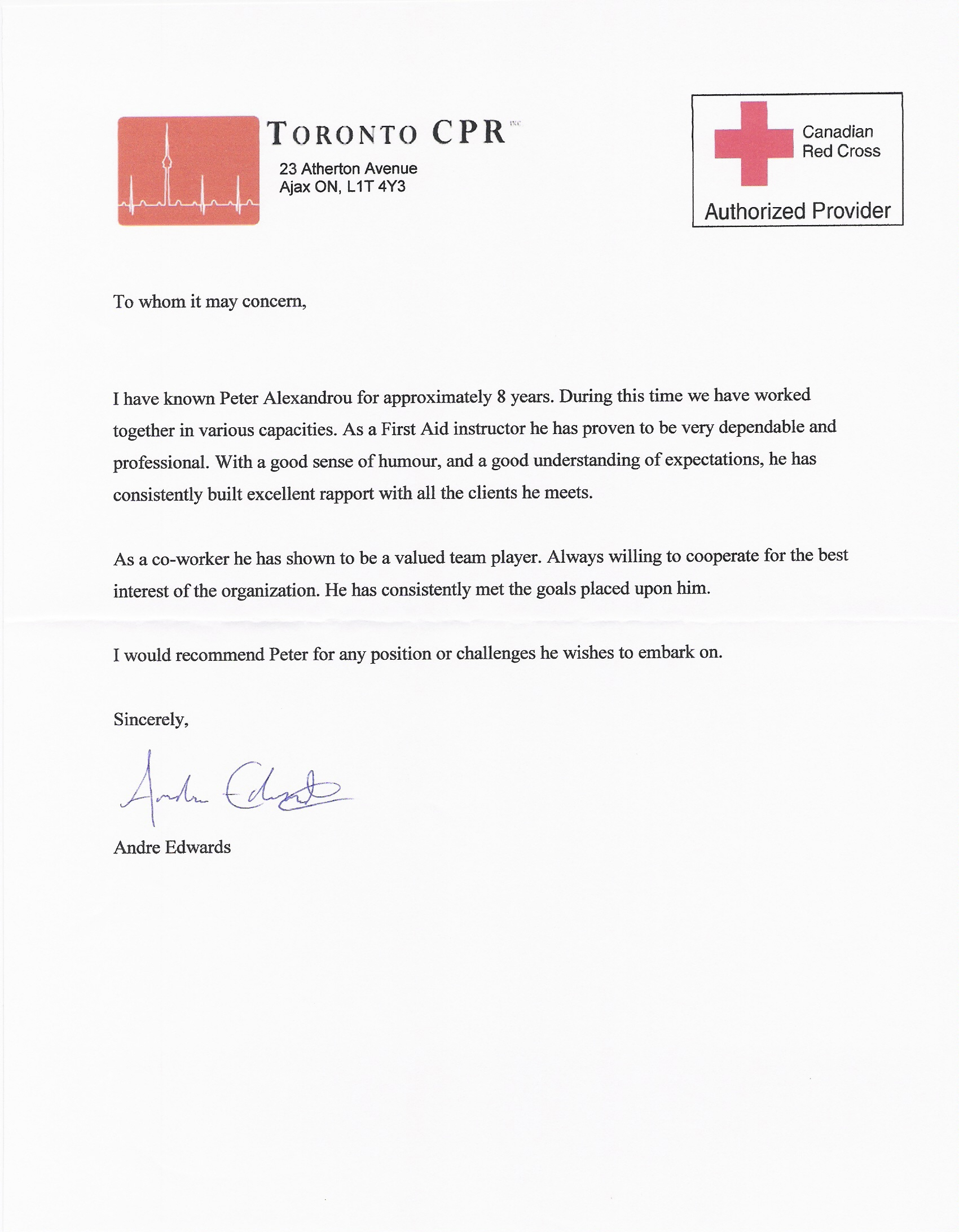 Best Photos Of Standard Letter Of Recommendation Sample Letter Of